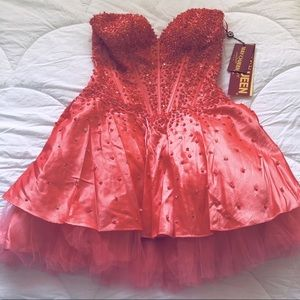MayQueen - Salmon Prom style Mini dress